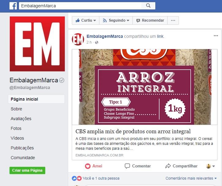 22-02-2018-Facebook Embalagem Marca-CBS amplia mix de produtos com arroz integral