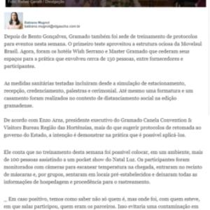 01_09 - Pioneiro - Online - CVB - Treinamento de eventos na Serra testa casamento, formatura e até espetáculos do Natal Luz