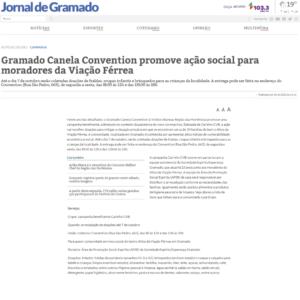 04_10 - Jornal de Gramado - Online - Gramado Canela Convention promove ação social para moradores da Viação Férrea