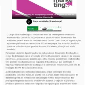26_07_2020 - Coletiva.net - Online - CVB - Grupo Live Marketing, com representantes na Serra, pensa em ações para o setor de eventos